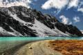 Картинка небо, снег, горы, речка, красотище