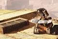 Картинка робот, walle, подзарядка, солнечная батарея