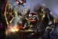 Картинка девушка, шапка, дракон, кружка, книга, World of Warcraft, бочка