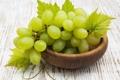 Картинка листья, виноград, миска