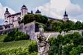 Картинка деревья, пейзаж, стена, Германия, склон, бавария, дворец