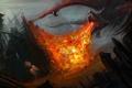 Картинка дракон, арт, Голлум, Властелин колец, фэнтази