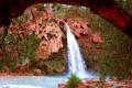 Картинка горы, природа, река, водопад, Arizona, Grand Canyon, Hava-sui Falls