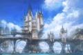 Картинка небо, облака, океан, арт, мосты, замки, Limsa Lominsa