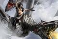 Картинка the chase, девушка, драконы, воин