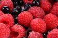 Картинка черника, blueberries, raspberry, малина, ягоды