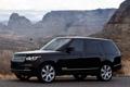 Картинка горы, чёрный, Land Rover, Range Rover, передок, Ленд Ровер, Ренж Ровер