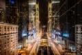 Картинка ночь, огни, New York, Night, нью йорк, 8th Ave