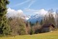 Картинка небо, горы, дом