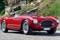 Картинка красный, Феррари, Ferrari, классика, мостовая, Spyder, передок