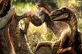 Картинка птицы, ситуация, джунгли, колонны, динозавры, Tomb Raider, руины
