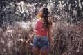 Картинка девушка, лето, шорты