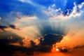 Картинка небо, пейзаж, закат, Обои, картинка