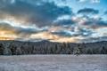 Картинка закат, пейзаж, поле