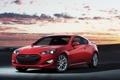 Картинка купе, автомобиль, Hyundai, красная, Coupe, Genesis, хюндай