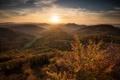 Картинка осень, пейзаж, закат, горы