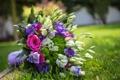 Картинка цветы, букет, flowers, bouquet, эустома, eustoma