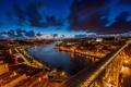 Картинка город, река, рассвет, Portugal, Porto