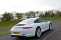 Картинка дорога, машина, 911, Porsche, Carrera 4, вид сзади, Coupe