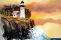 Картинка пейзаж, маяк, картина