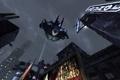 Картинка Бэтмен, полет, Batman Arkham City, game