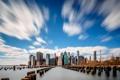 Картинка небо, облака, дома, нью-йорк, сша, манхэттен