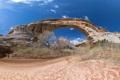 Картинка арка, небо, скалы, Arches National Park, кусты, uta, сша