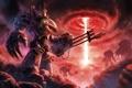 Картинка металл, оружие, луч, войны, арт, warhammer 40k, воронка