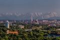 Картинка пейзаж, небо, панорама, Германия, Мюнхен, деревья, дома