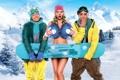Картинка снег, горы, фильм, актёры, Екатерина Вилкова, В спорте только девушки, Илья Глинников