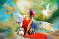 Картинка девушка, крылья, ангел, Wlodzimierz Kuklinski