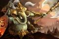 Картинка оружие, слон, бог, воин, арт, ganesha