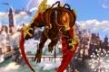 Картинка Колумбия, арт, полет, Соловей, BioShock Infinite