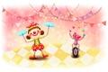 Картинка рисунок, позитив, цирк, девочка, веселье, зверёк