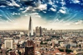 Картинка небо, облака, город, фото, Лондон, дома, Великобритания