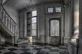 Картинка интерьер, дверь, лестница