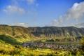 Картинка пейзаж, горы, город, Германия, городок, Germany, река.