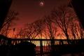 Картинка небо, ночь, вечер, луна