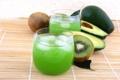 Картинка лед, киви, сок, стаканы, напиток, фрукты, авокадо