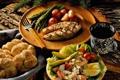 Картинка food, eggs, fish, bread