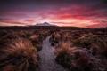 Картинка закат, природа, гора, панорама