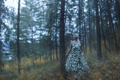Картинка лес, девушка, ситуация