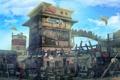 Картинка город, арт, постройки, трущебы