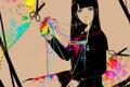 Картинка девушка, краски, сердце, аниме, арт, форма, школьница