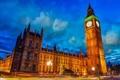 Картинка дорога, небо, тучи, город, Англия, Лондон, вечер