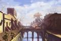 Картинка город, рисунок, the elder scrolls, стражи, picture, Morrowind, balmora