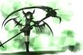 Картинка девушка, оружие, крылья, аниме, арт, рога, коса