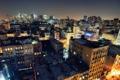 Картинка lower manhattan, night, usa, ночь, огни, roof, NoHo on down