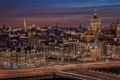 Картинка город, дома, Нидерланды, канал, вечер, Амстердам, огни