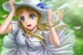 Картинка девушка, настроение, ветер, аниме, шляпка, k-on, kotobuki tsumugi